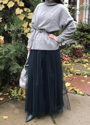 Вечерняя юбка макси длинная пачка фатин