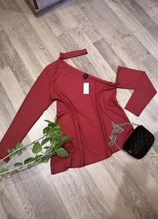 Шикарная, оригинальная, стильная новая блуза блузка. фактурная ткань. river island
