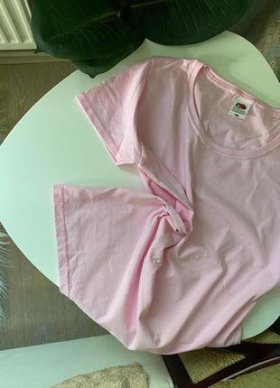 Розовые базовые футболки