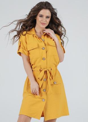 Женское платье рубашка сафари