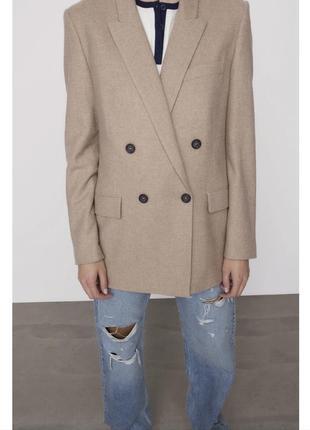 Стильный пиджак оверсайз zara зара хороший состав 🧡блейзер жакет