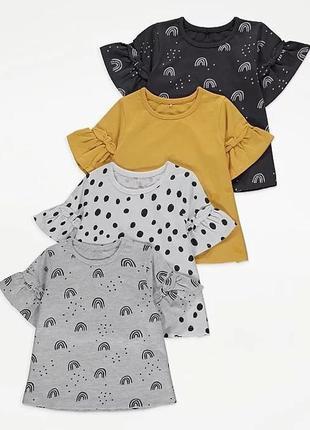 5-6л. футболки с принтом george, в наборе 4 шт. в наличии!
