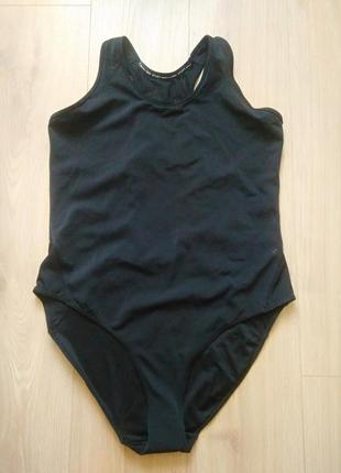 Чорний суцільний купальник h&m sport/оригінал! сдельный купальник