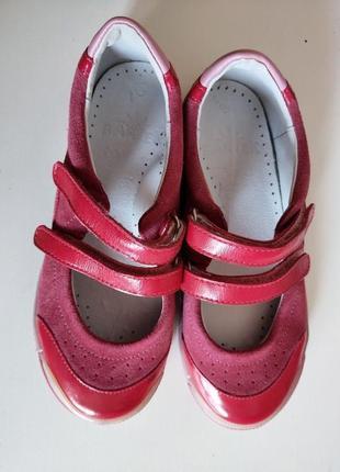 Туфли для девочки на липучках бартек р. 30 20 см