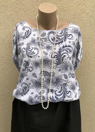 Лёгкая,штапельная блуза реглан,рубаха,этно бохо стиль,италия