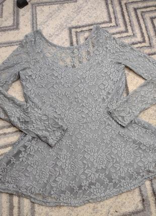 Блузка кофточка женственная кружево стрейч