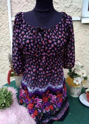 Блуза debenhams в маковый принт