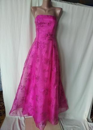 Красивое сочное вечерние платье, xs, s
