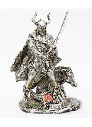Статуэтка викинг полистоун