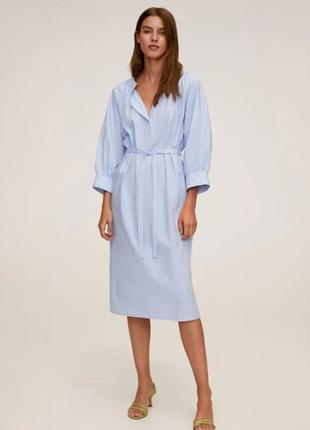 Элегантное платье миди mango, xs  оверсайз можно на s, m