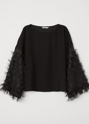 Классний блуза с оригинальним рукавом h&m