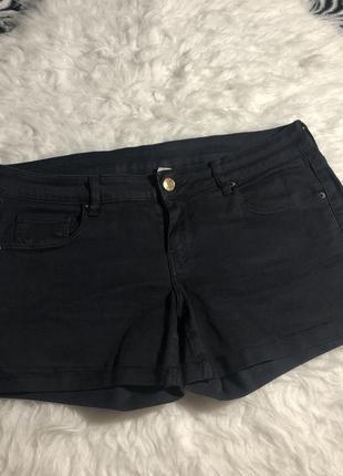 Черные джинсовые шорты mango