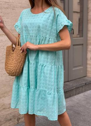Женское летнее платье свободного кроя