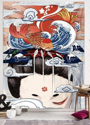 Картина-гобелен текстильный мысли гейши
