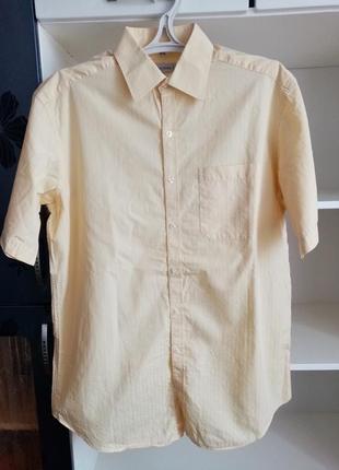 Літня чоловіча сорочка рубашка мужская с коротким рукавом