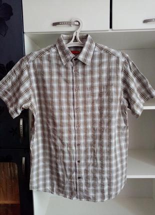 Мужская летняя рубашка в клеточку сорочка чоловіча літня в клітинку