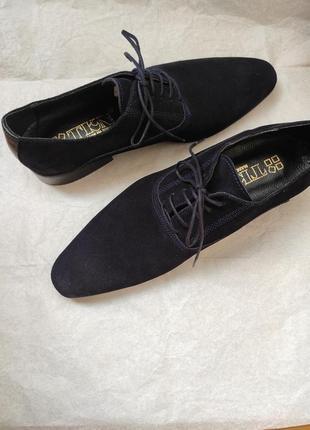 Мужские замшевые туфли оксфорды новые кожаные 40р. чоловічі туфлі