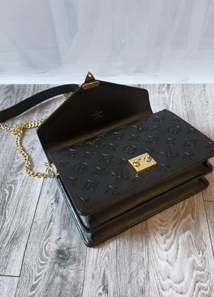 Чёрная сумка канва кожа6 фото