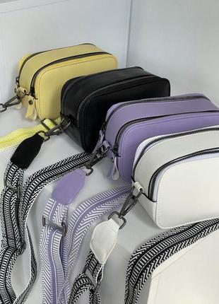 Новая женская сумочка клатч с плечевым ремнём кожаная стильная сумка