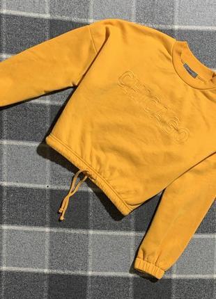 Женская укорочённая кофта свитшот primark
