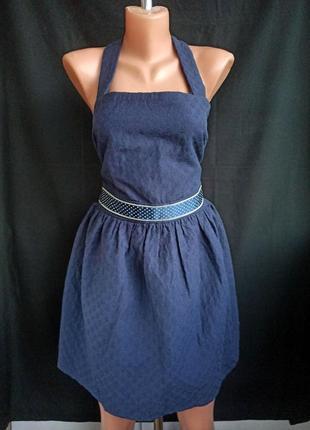 Распродажа! приталенный фактурный сарафан колокольчик ( платье ) с красивой, открытой спиной