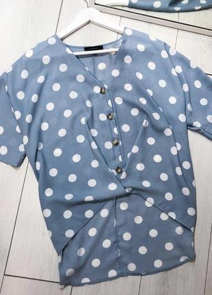 Блуза в горошок