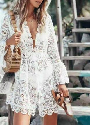 Туника пляжная халатик платье на пляж