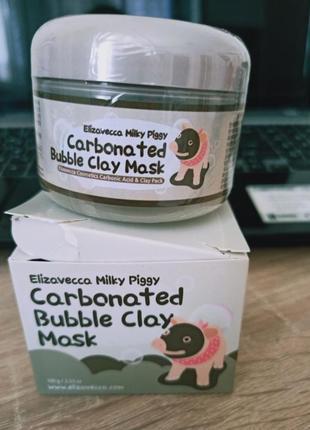 Новая маска elizavecca milky piggy carbonated bubble clay mask