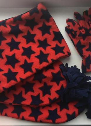 Набір шарф та рукавички mothercare
