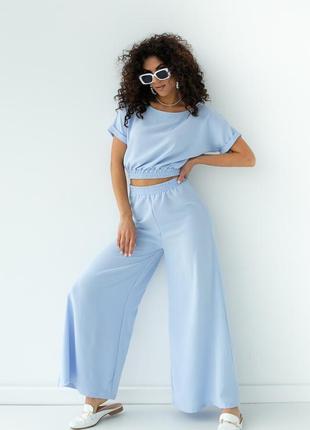 Костюм двойка топ и широкие брюки штаны