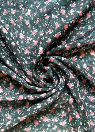 Красивый снуд-хомут, шарф, розочки - 170х53см - ,с биркой