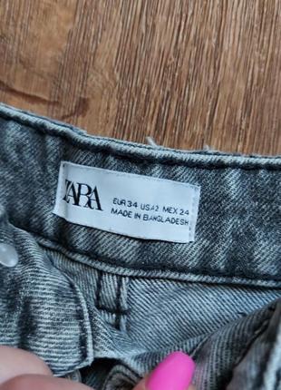 Джинсовые шорты на талии zara с-ка3 фото