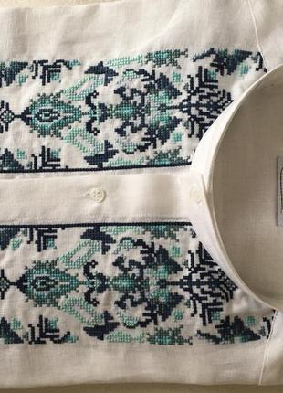 Сорочка  вишиванка сучасна, лляна.