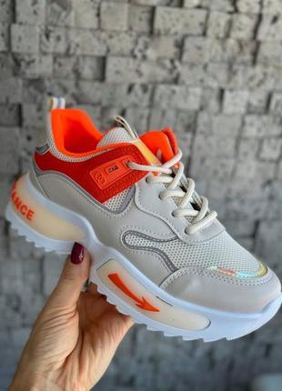 Новинка: женские оранжевые кроссовки