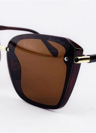 Распродажа 🔥🔥🔥очки солнцезащитные квадратные коричневые