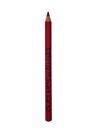 Червоний олівець для губ, красный карандаш для губ tommy g woman smart lip №2.