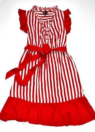 Izabel  london красивое платье в полоску и с рюшами.  л.12.40