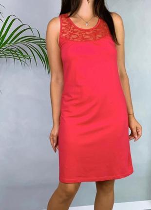 Трикотажное домашнее платье с кружевом esmara