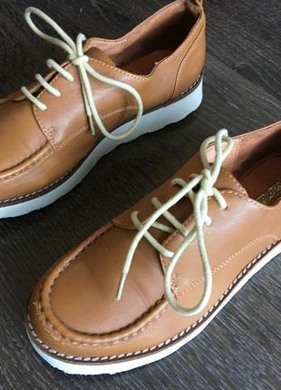 Премиум бренд, туфли на шнуровке из кожи теленка