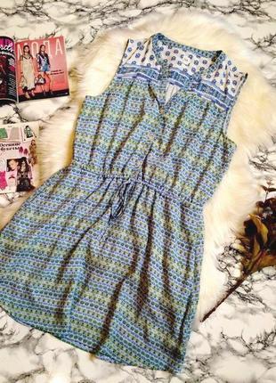 🔥🔥🔥 резерв!!!красивое летнее платье с цветочным принтом размер l-xl