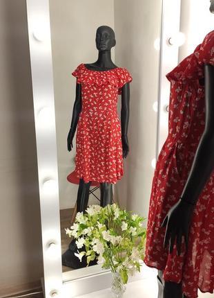 Красивенное платье в цветочный принт с карманами 💐