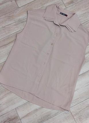 Красивая фирменная бежевая блузка, турция dilvin