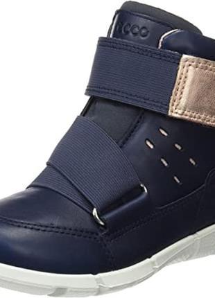Ботинки кожаные , размер 28, стелька 18см ecco unisex kids intrinsic sneaker low-top
