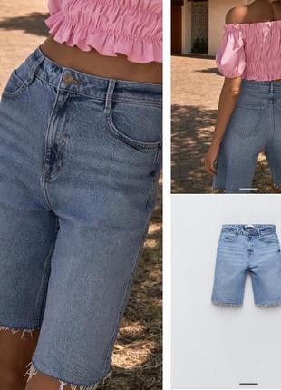 Zara джинсовые шорты в наличии
