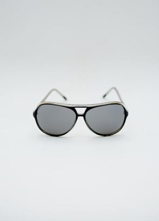 Симпатичные черные  очки авиатор mango