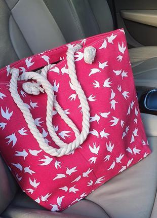 Пляжна сумка з принтом
