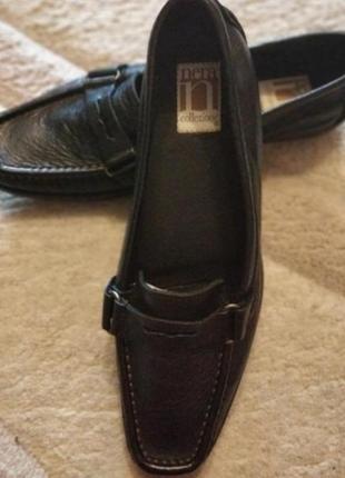 Кожаные туфли лоферы