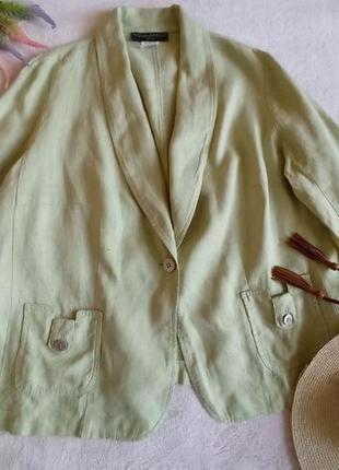 Пиджак из плотного льна