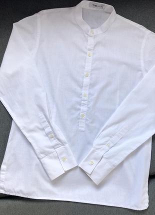 Рубашка мужская, воротник стойка