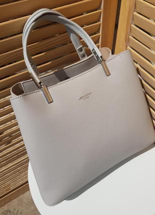 Скидка!! стильная пудровая строгая женская сумка отличного качества